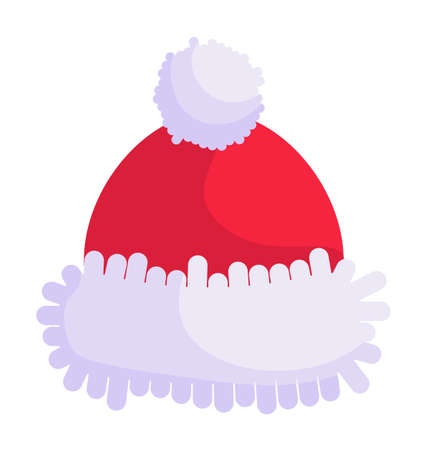 Red christmas santa claus hat isolated on white