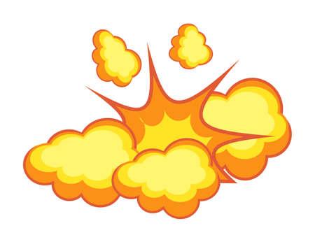 Dynamite explosion burst effect isolated on white
