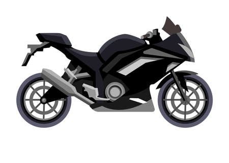 Vector motorbike isolated on white background