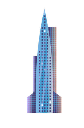 Futuristic pointed skyscraper rocket shaped exterior