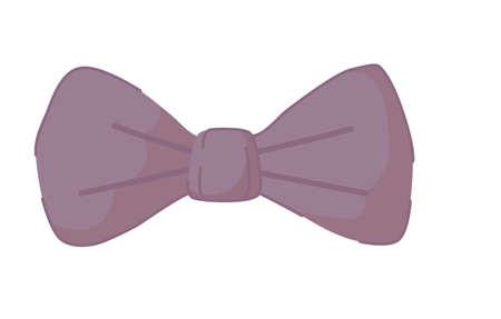 Cartoon male bow-tie isolated on white background Vektoros illusztráció