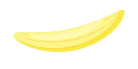 Ripe banana flesh without peel isolated on white background