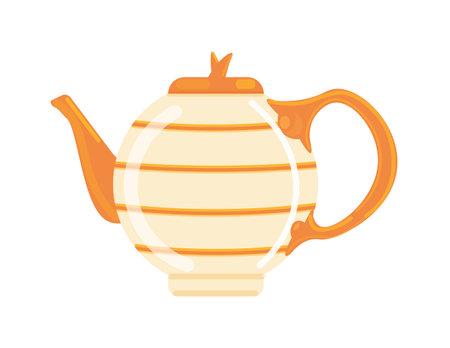 Elegant teapot vector isolated on white background