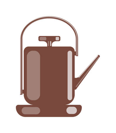Teapot camping kettle isolated on white background 向量圖像