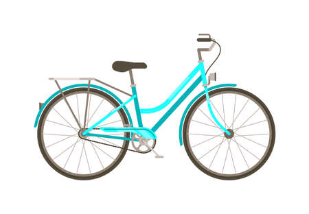 Vector bicycle transport isolated on white background