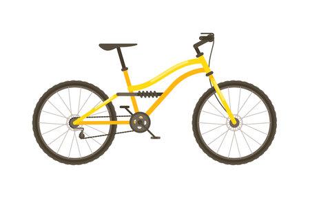 Mountain bike isolated on white background 向量圖像