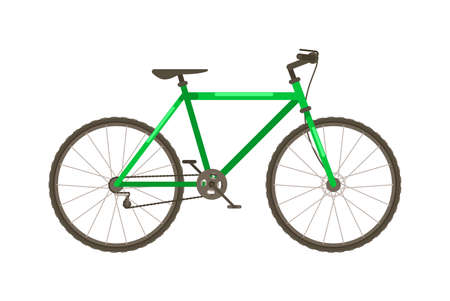 Bicycle with frame isolated on white background
