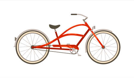 Vector travel bicycle isolated on white background