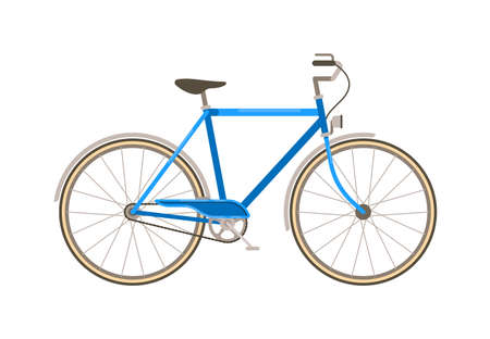 Bicycle eco-friendly transport on white background