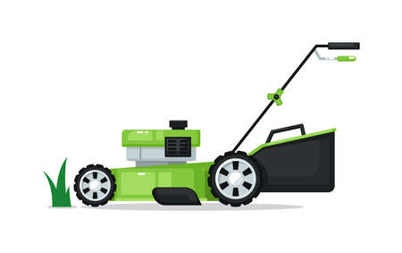 Lawn mover vector isolated on white background
