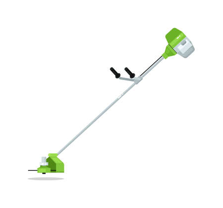 Hand lawn mover isolated on white background