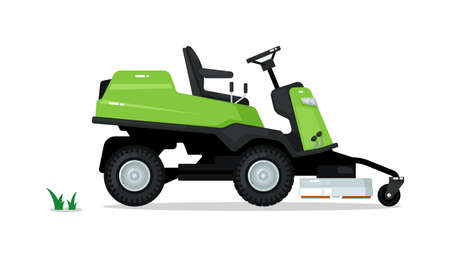 Professional lawn mower isolated on white background 向量圖像