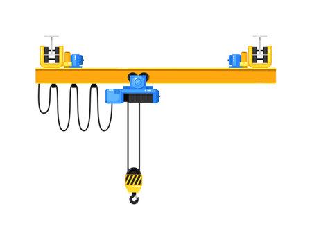 Automatic crane elevating equipment isolated on white