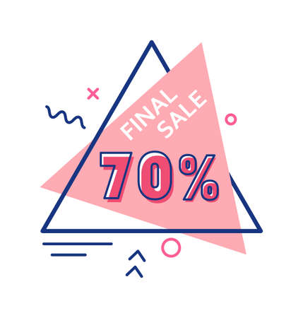Final sale up to 70 percent price off sticker template