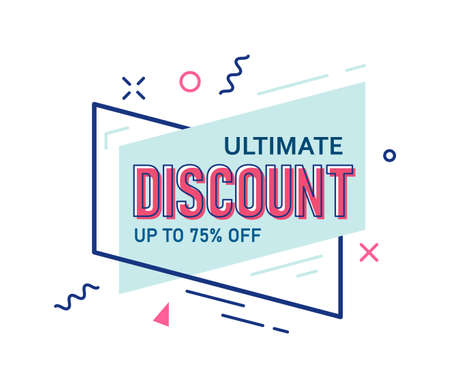 Ultimate discount up to 75 percent off sale sticker
