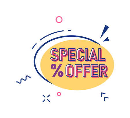 Special offer with percentage discount vector sale sticker