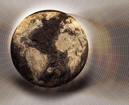 uninhabited: Illustration of a dryed globe Stock Photo