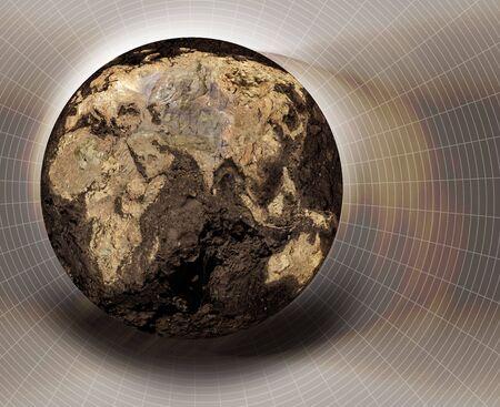 Illustration of a dryed globe Banco de Imagens