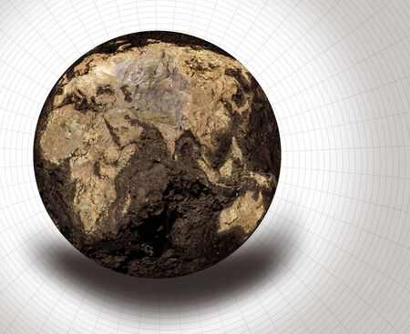 Illustration of a dryed globe Imagens - 5316190
