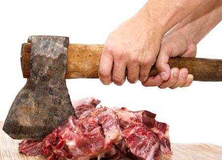 ax: meat cutting ax