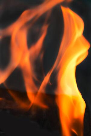 blazed: flame fire on black background