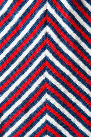 red black white: material with red, black, white stripes Stock Photo