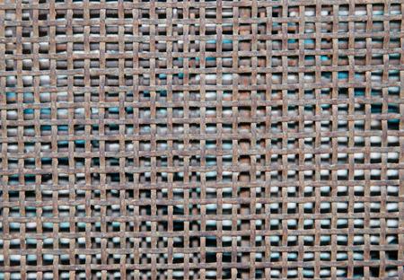 metal grid: small rusty metal grid Stock Photo