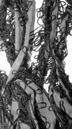 fringe: black and red fringe for edging