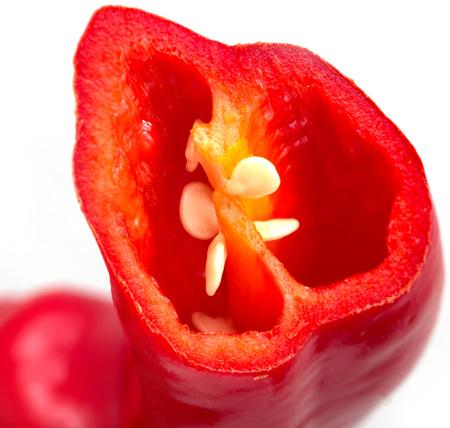chiles picantes: chiles en rodajas Foto de archivo