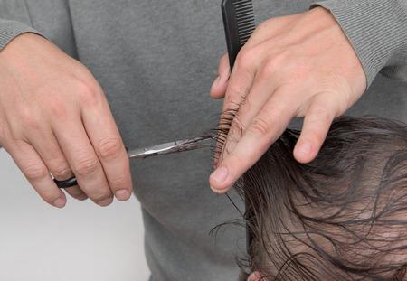 tijeras cortando: tijeras de corte de pelo de pelo