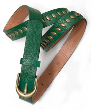 womens: Womens green belt on a white background