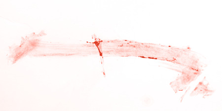 speckled: spot of blood on the white