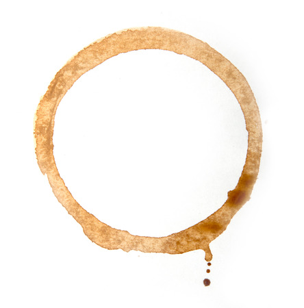 coffee stain on a white background Фото со стока - 35548283
