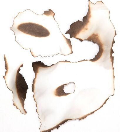 edges: paper with burnt edges Stock Photo