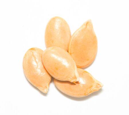 antihistamine: pumpkin seeds on a white background Stock Photo
