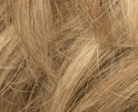 blond streaks: blond hair as background Stock Photo