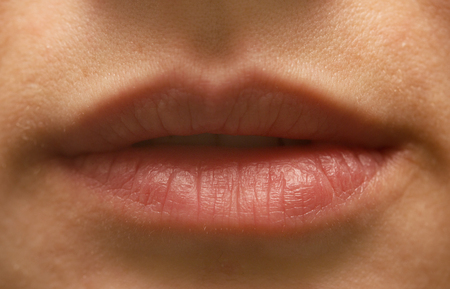 female lips without make-up Фото со стока - 38151216