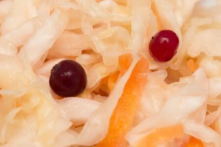 arandanos rojos: chucrut con ar�ndanos Foto de archivo