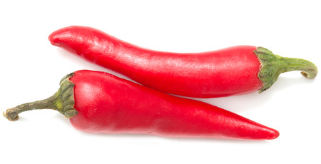 hot peppers: Red hot peppers