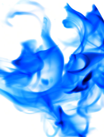 blue flame: blue flame fire on a white background