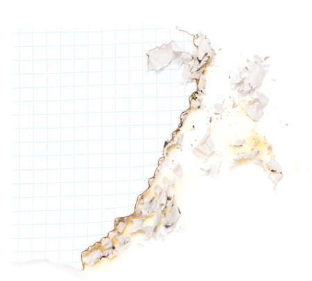 burned paper: burned paper Stock Photo