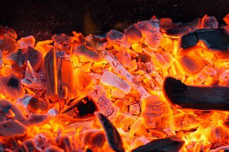 coals: live coals Stock Photo