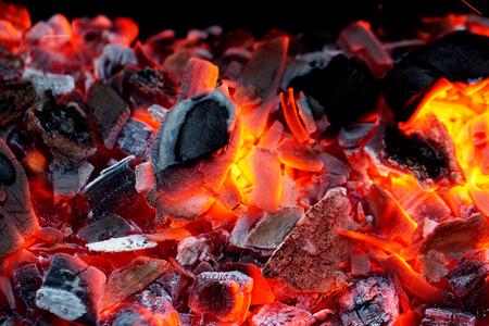 live coals Stock Photo