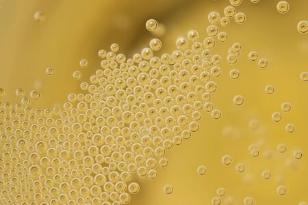 champagne bubbles as background Stock Photo