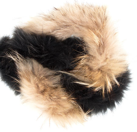 collar: collar black and brown fur on a white background