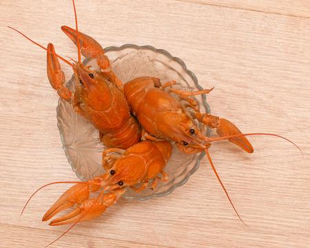 boiled: boiled crawfish Stock Photo