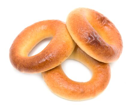 bagels: bagels on a white background