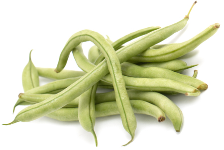 ejotes: green beans on a white background