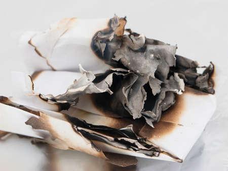 burnt paper Reklamní fotografie