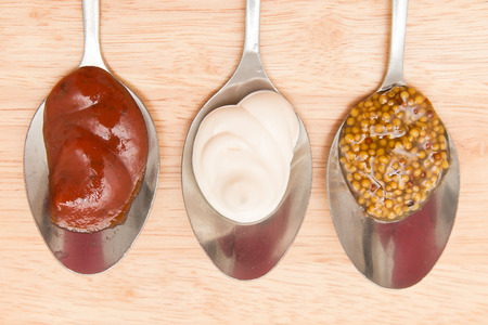 Sauces in a spoon